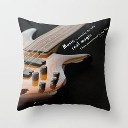 Music is Real Magic Throw Pillow
