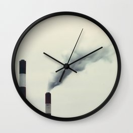 industrie chimney Wall Clock