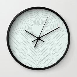 Love Heart Pattern #society6 #love #buyart Wall Clock