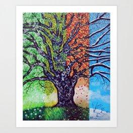 'A Tree For All Season' Art Print