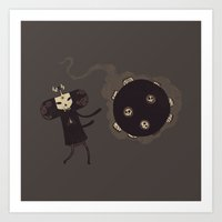 katamari Art Prints featuring Katamari of the Dead by Hector Mansilla