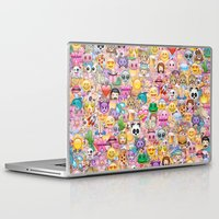 emoji Laptop & iPad Skins featuring emoji / emoticons by Marta Olga Klara