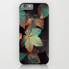 Copper And Teal Leaves iPhone 6s Slim Case