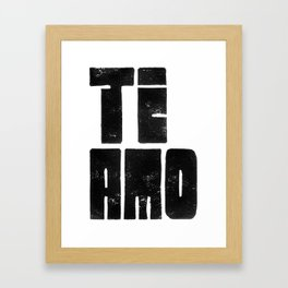 Te Amo Ti Amo - by Genu WORDISIAC™ TYPOGY™ Framed Art Print