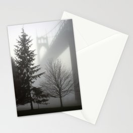 St. Johns Bridge in the fog Stationery Cards