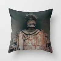 shield Throw Pillows featuring Shield by HMS James