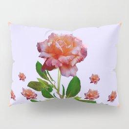 PEACHY PINK ROSE ART NOUVEAU ART Pillow Sham