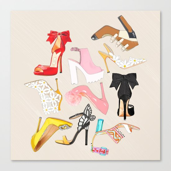 Shoes Full Time Love Canvas Print