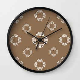 White Square Circles, Brown Wall Clock
