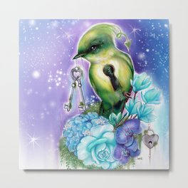 You Hold the Key  - Love Birds Collection - Sheena Pike Metal Print