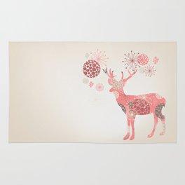 Flower deer Rug