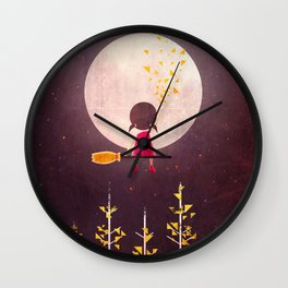A Little Night Wanderer Wall Clock