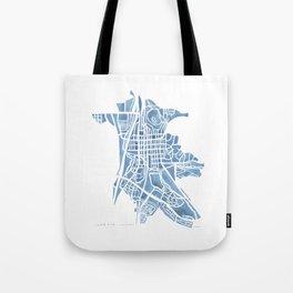 Castle Rock Colorado watercolor map Tote Bag