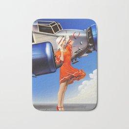 (Art Deco) Skirt with wings Bath Mat