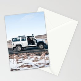 Day out shoting in Iceland Stationery Cards