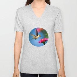 Hummingbird Flight Unisex V-Neck