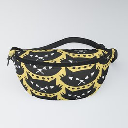 Mid Century Modern Cat Black Yellow Fanny Pack