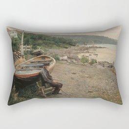 Hans Heyerdahl - View from Åsgårdstrand Rectangular Pillow