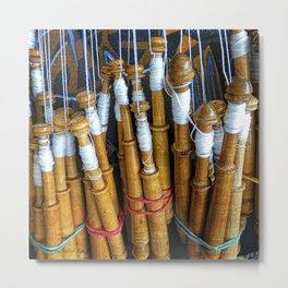 Bolillos or Lace Spindles Metal Print
