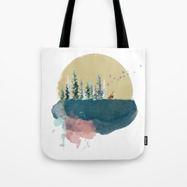 Forest on the moon... Tote Bag