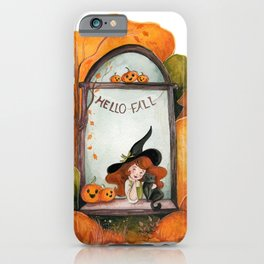 Fall Window Witch  iPhone Case