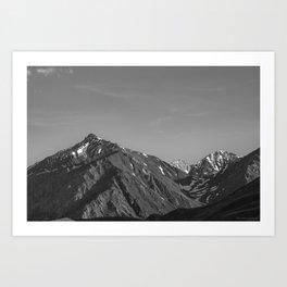 California's Sierra Mountains - B & W Art Print