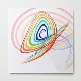 Rainbow modern graphic Metal Print