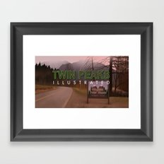 Road Sign Twin Peaks with title Framed Art Print