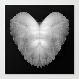 Angel Wings Heart Canvas Print
