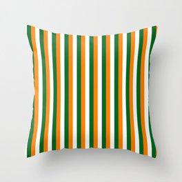 Team Colors 4... orange green white Throw Pillow