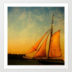 The America in Key West is Leaving for Sunset Art Print