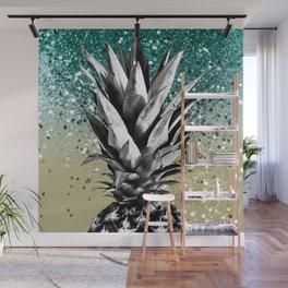 Pineapple Lemon Twist Glitter Glam #1 #tropical #fruit #decor #art #society6 Wall Mural