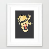 smash bros Framed Art Prints featuring Sheik || Smash Bros Melee by Let's Play KW