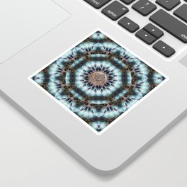 Om Shanti Fractal Geometry [ earthy aqua remix ] Sticker