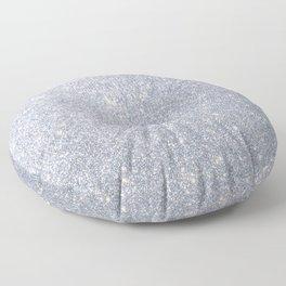 Silver Metallic Sparkly Glitter Floor Pillow