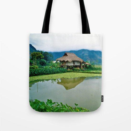 Mountain Village in Vietnam Tote Bag