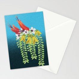 Flax, Kowhai and Manuka Flowers Stationery Cards
