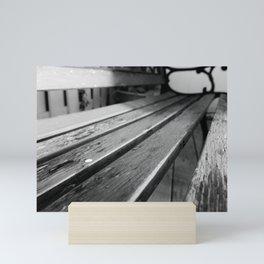 Worn Down Bench Mini Art Print