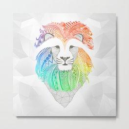 Colored Lion Metal Print