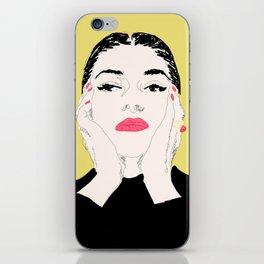 Pop Maria Callas - Yellow iPhone Skin