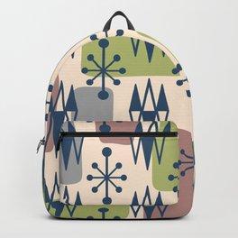Mid Century Modern Abstract Atomic Diamonds 429 Backpack