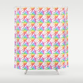 Doll Hangers in Color  Shower Curtain