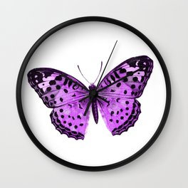 Luxurious Lilac-Pink Butterfly Wall Clock