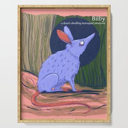 The bilby a rabbit-like marsupial Serving Tray