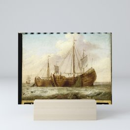 Sign, both sides painted with Herring Boats, anonymous, 1700 - 1799 Mini Art Print