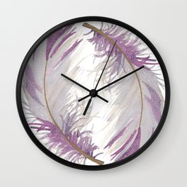 Feather Gray Wall Clock