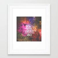 infinite Framed Art Prints featuring Infinite by MJ Mor
