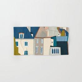 france houses abstract art Hand & Bath Towel