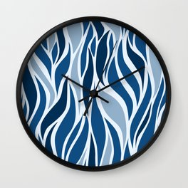 Go with the Flow in Classic Blue Wall Clock