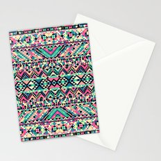 Pink Turquoise Girly Aztec Andes Tribal Pattern Stationery Cards
